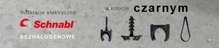 instalacje elektryczne w kolorze czarnym Schnabl