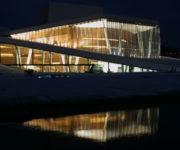 Oświetlenie Opery w Oslo