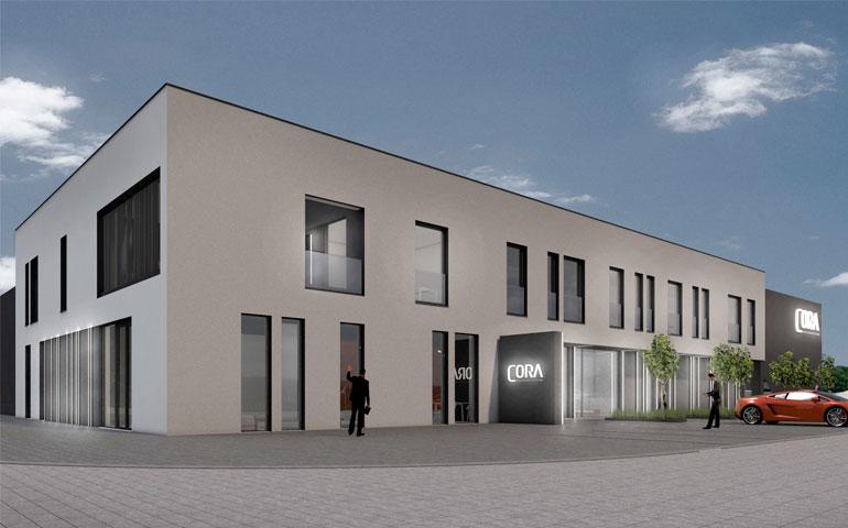 projekt siedziby firmy Cora Lighting w Bytomiu