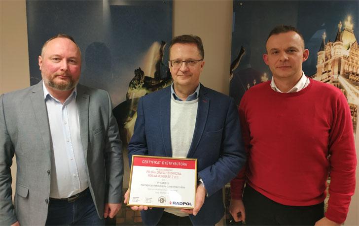 Wręczenie Certyfikatu Radpol dla Forum-Rondo