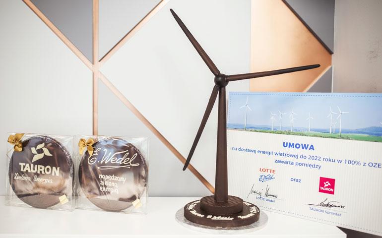 Zielona energia w fabryce czekolady