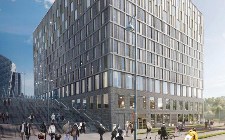 Fotowoltaika od ML System na budynku hotelu w Sztokholmie