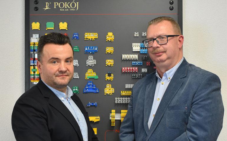 zarząd Pokój, od prawej Grzegorz Osiniak i Radosław Rychter