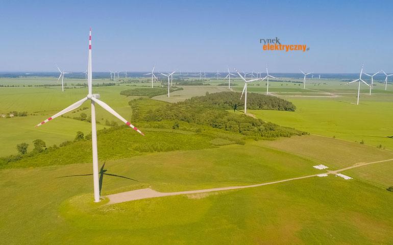 Moc zainstalowana farm wiatrowych AKTUALIZACJA