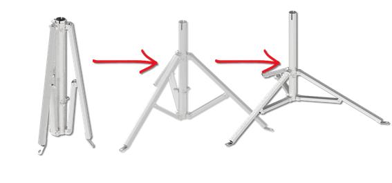 konstrukcja trójnogów masztów odgromowych Elko-Bis