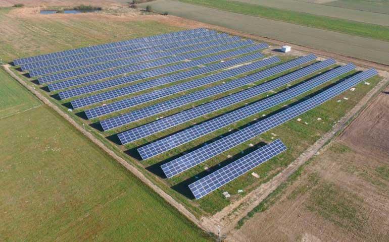 farma pv Rzeczyca Projekt Solartechnik