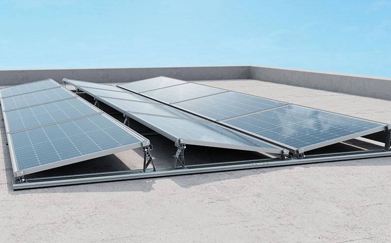 system montażowy pv na dachy płaskie IBC Solar