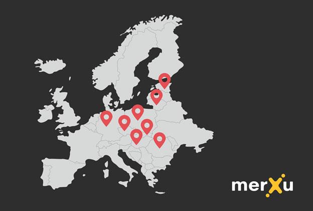 kraje działalności merXu