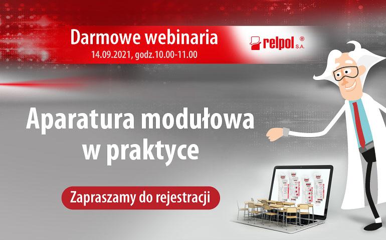 webinarium Relpol aparatura modułowa w praktyce