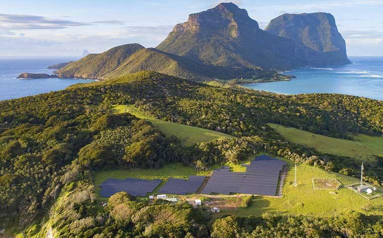wyspa Lord Howe z elektrownią fotowoltaiczną